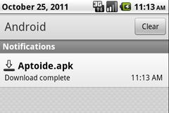Aptoide Download Complete